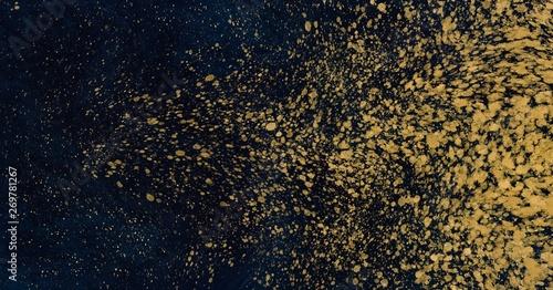 abstrakcjonistyczna-akwareli-farba-w-glebokich-blekitnych-i-zlocistych-kolorow-klepnieciach-polyskuje-teksture-dla-luksusowego-t