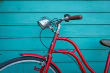Red Vintage Bicyle Parking On ...