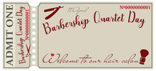 Invitation For Barbershop Quartet Day