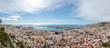 Panorama of Almería from the Alcazaba on a sunny day