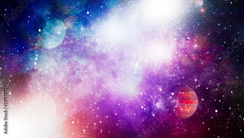 Fototapety, obrazy: explosion in space. Abstract illustration of universe. Elements of this image furnished by NASA