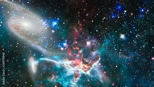 Fotografia, Obraz Futuristic abstract space background