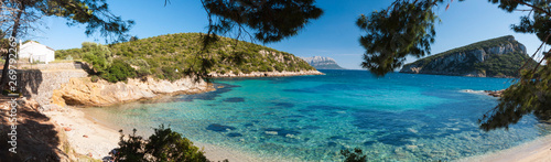 Photo  italy sardinia cala moresca bay in aranci gulf