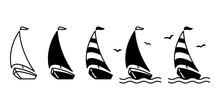 Boat Vector Ship Icon Logo Pir...
