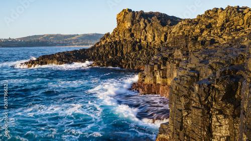Valokuva  Felsküste von Kiama in New South Wales Australien bei Sonnenaufgang