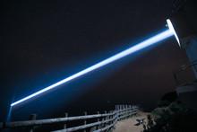 徳島県阿南市 蒲生田岬灯台の夜景