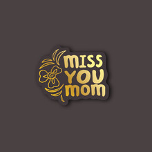 Sticker With Mothers Day Hand ...