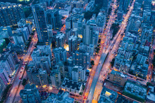 Top View Of Hong Kong City At ...