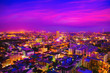 canvas print picture - Spectacular nighttime skyline of a big modern city at night . Pattaya, Thailand - Image