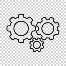 Gear Vector Icon In Transparen...