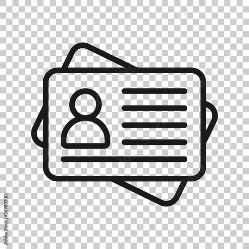 Fotomural  Id card icon in transparent style