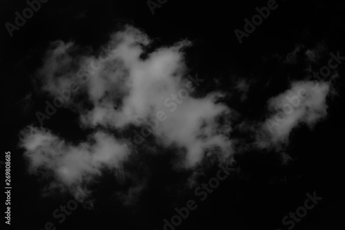 Fototapety, obrazy: Clouds isolated on  black background with clipping path.