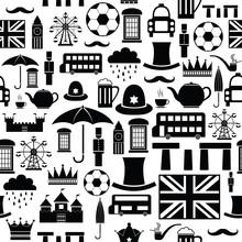 England Seamless Pattern Background Icon.