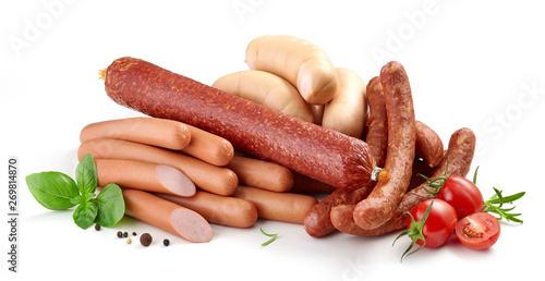 Foto heap of various sausages