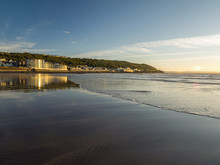 Westward Ho! Sea Front On The Devon Coast Of England