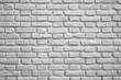 White Colored Brick Wall for Background or Banner