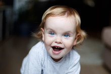 Baby Smiling Close-up