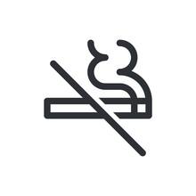 No Smoking Vector Icon. Cigarette Smoke Forbidden Kein Rauchen Or Rauchverbot, No Fumar, Ne Pas Fumer And No Smoking Warning Sign Template