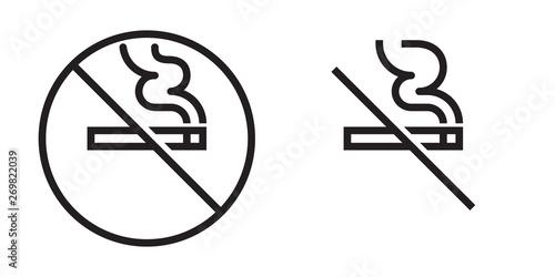 Cuadros en Lienzo No smoking vector icon