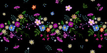 Embroidery Floral Seamless Pat...