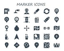 Marker Icon Set