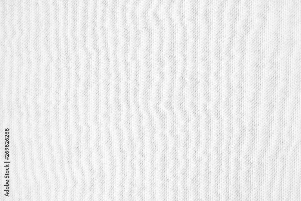 Fototapety, obrazy: Closeup white cotton fabric texture background.
