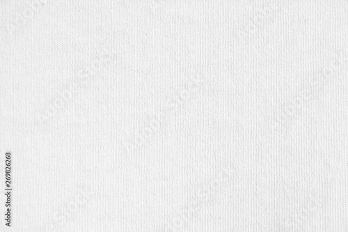 Keuken foto achterwand Stof Closeup white cotton fabric texture background.