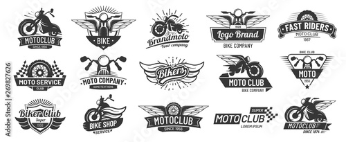 Motorcycle badges Fototapeta