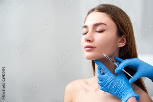 Obraz na płótnie Smile lifting and lip augmentation