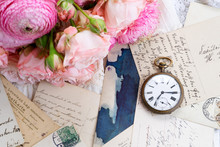 Antique Mail And Clock