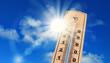 Leinwanddruck Bild - Hitzewelle rollt an