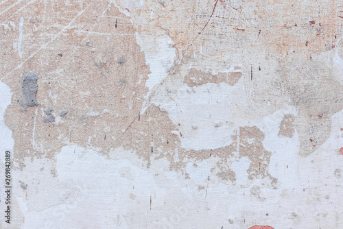 Canvas Prints Old dirty textured wall Texture, wall, concrete, it can be used as a background. Wall fragment with scratches and cracks