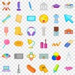 Lunch icons set. Cartoon style of 36 lunch vector icons for web for any design