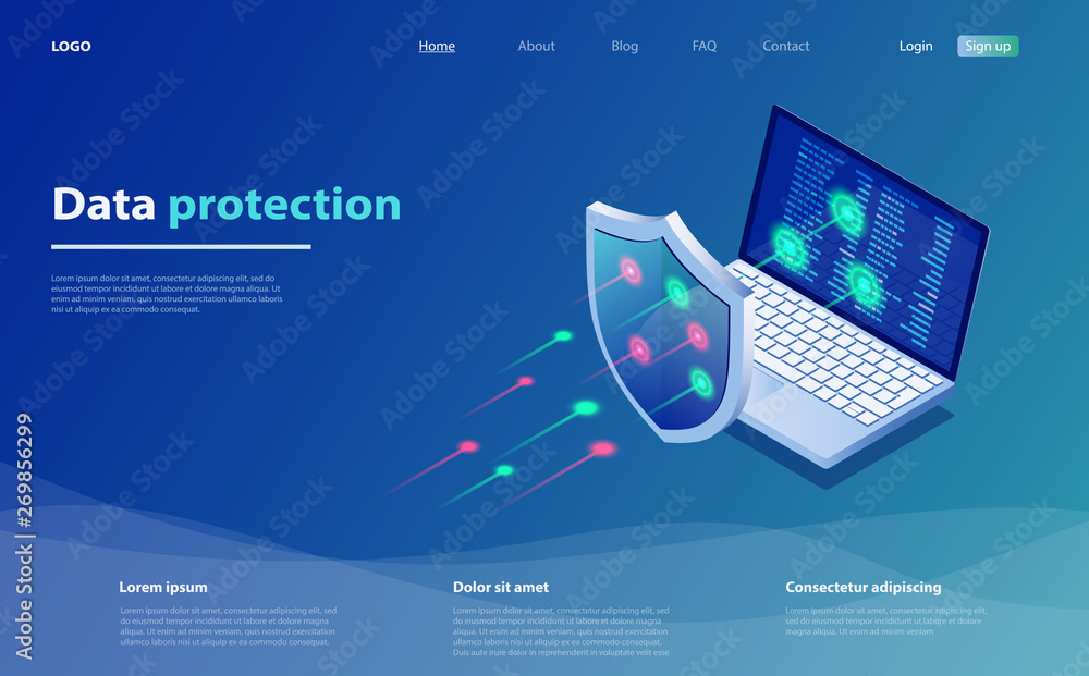 Fototapeta Data protection concept. Network data security. Safety, confidential data protection, concept with character saving code.