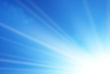Blue Sky Sun Flare Background....
