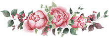 Watercolor Flowers. Floral Ill...
