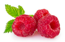 Fresh Raspberry On White Backg...