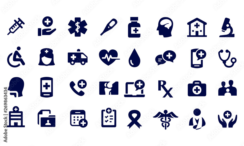 Fototapety, obrazy: Exercise and Relaxation Icons black and white