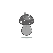 Mushroom Fly Agaric With A Wor...