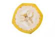 canvas print picture - Banane in Scheibe geschnitten mit Schale