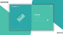 Newsletter Website Design Mockup Layout