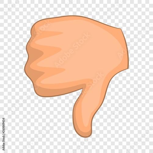 Obraz na plátně  Thumb down icon