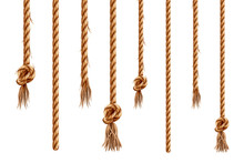 Set Of Isolated Hanging Ropes ...