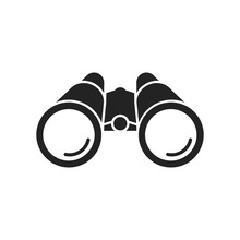 Binoculars Flat Icon. Vector. Isolated.