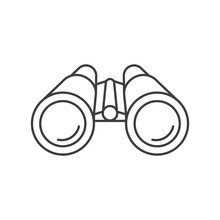 Binoculars Line Stylye Icon. Vector. Isolared.