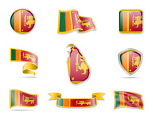 Sri Lanka Flags Collection. Ve...