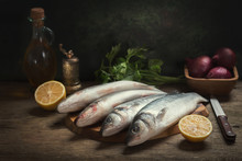 Still Life With Fresh Fish And...
