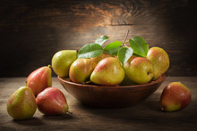 Still Life With Fresh Pears Wi...