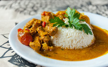 Curry Chicken Bright Juicy Wit...