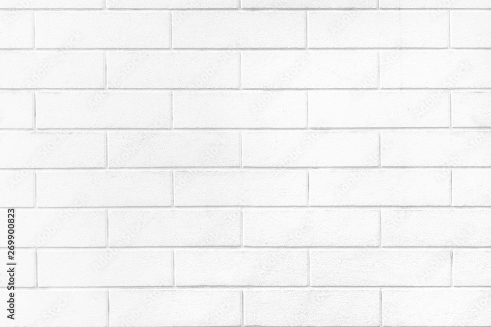 White brick wall texture or pale soft color brick wall as background.